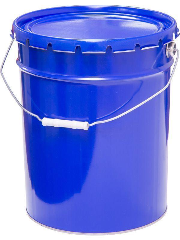 Ведро металлическое 20 л синий цвет крышка-корона